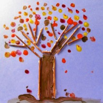 This toothpick tree is a fun leaf themed art and craft ideas for kids.