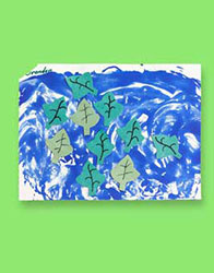 "This leaf themed art project is ""leafs blowing in the wind."" Great fall themed project for kids."
