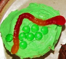 Worm themed cookie idea.