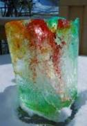 Make your own ice block for kids. Fun winter activities.