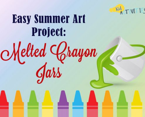 EASY SUMMER ART PROJECT: MELTED CRAYON JARS