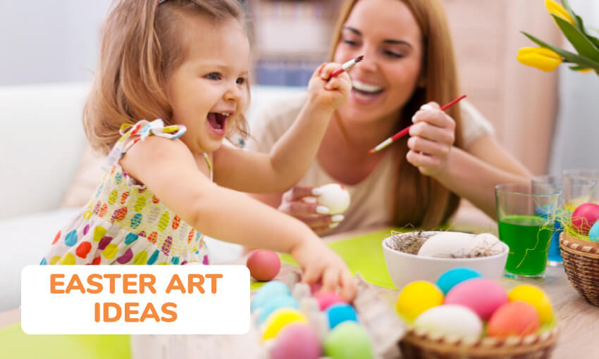 A collection of Easter art ideas for kids.