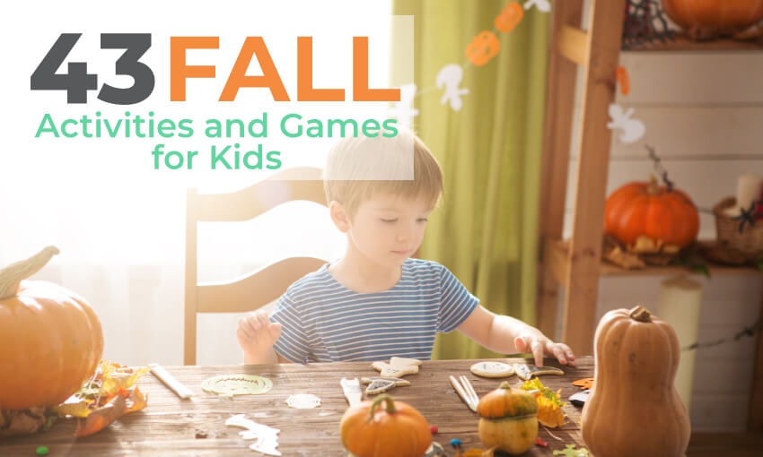 A collection of fall activities and games for kids. This is a great way to get kids excited about fall and having fun.