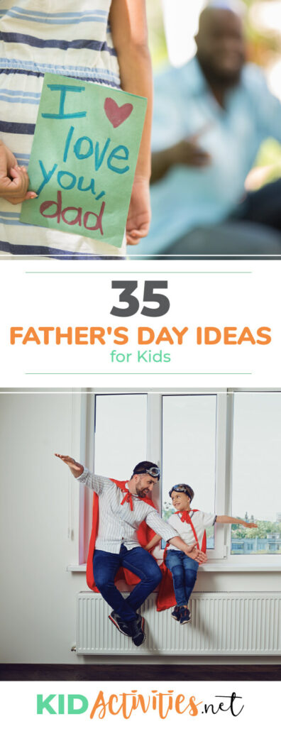 A collection of Father's Day ideas for kids. Great recipe ideas, art ideas, craft ideas, and Father's Day poems.