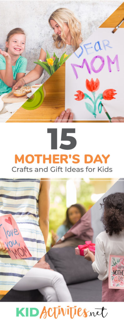 A collection of Mother's Day crafts and gift ideas for kids. These are great cost effective gifts that kids can make for mom.