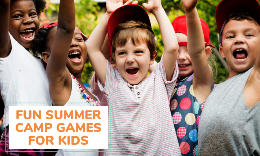 A collection of fun summer camp games for kids.