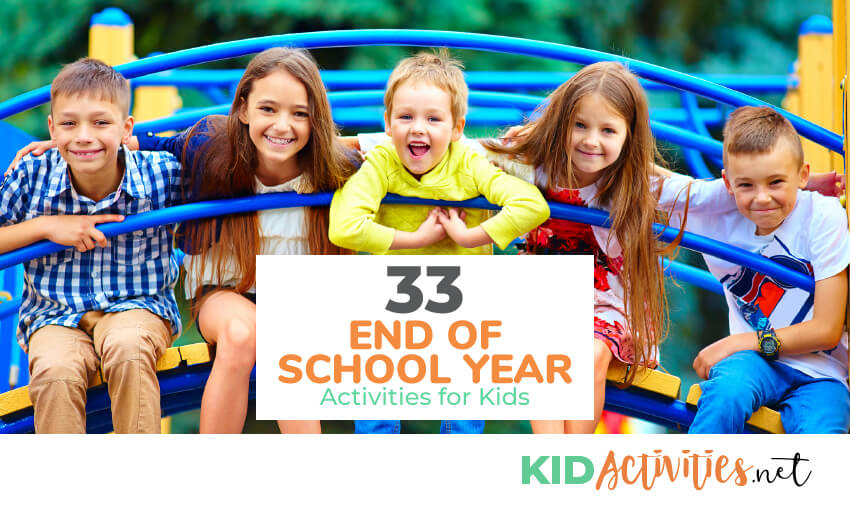 A collection of end of school year activities for kids.