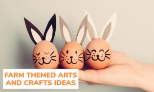 A collection of farm themed arts and crafts ideas for kids.