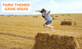 A collection of farm themed game ideas for kids.