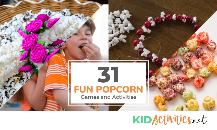A collection of popcorn games and activities for kids.