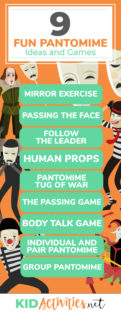 A collection of pantomime games and activity ideas. Great for drama class or for class plays.