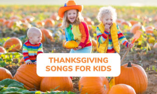 A collection of Thanksgiving Day songs for kids to sing.