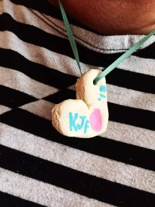 Fingerprint Necklace DIY Salt Dough
