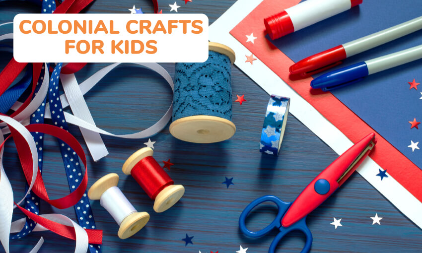 A collection of colonial craft ideas for kids.