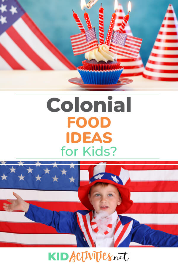 A collection of colonial food ideas. Making colonial food is a great way to help teach kids about settlers in early America.