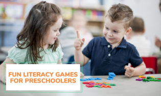 A collection of literacy games for preschool kids.
