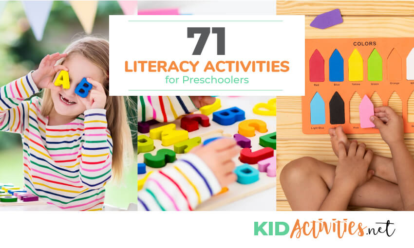 A collection of literacy activities for preschool kids.