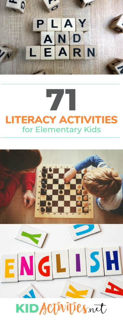 A collection of fun literacy activities and games for preschool kids. These great activity ideas will help promote literacy while having fun.