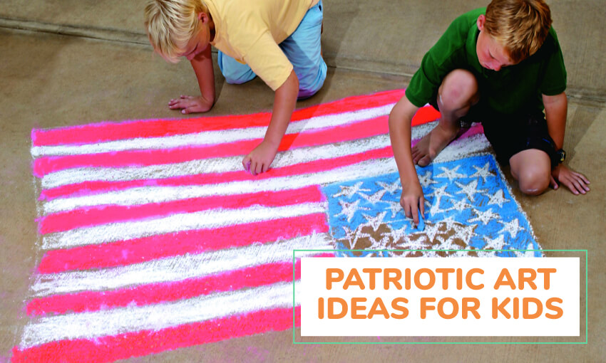 A collection of patriotic art ideas for kids.