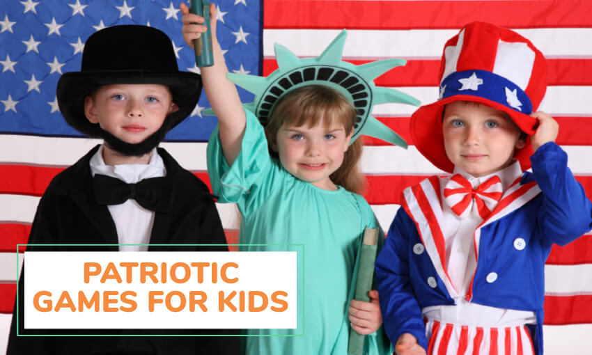 A collection of patriotic games for kids.