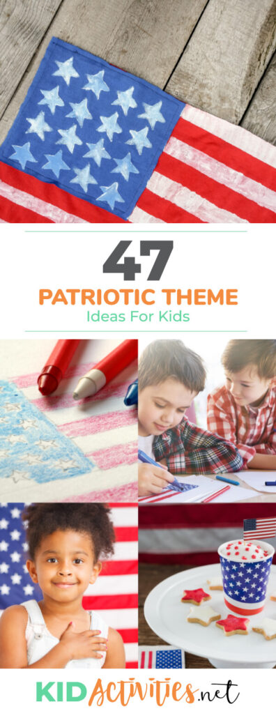 A collection of patriotic themed activities and games for kids. Great activity ideas to celebrate Memorial Day or July 4th.