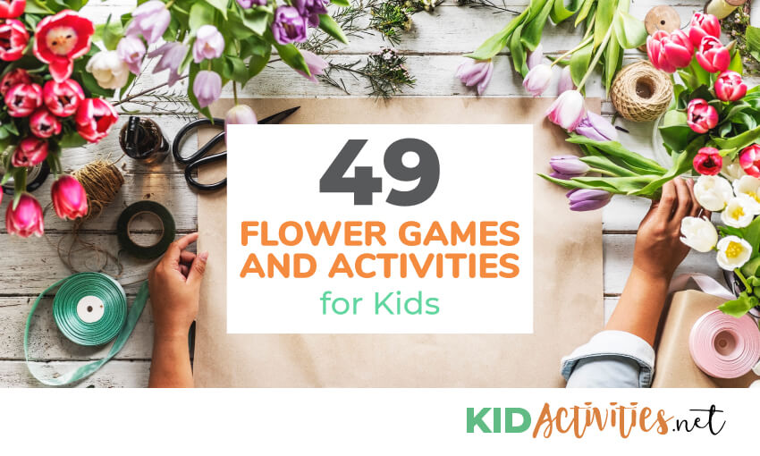 A collection of flower games and activities for kids.