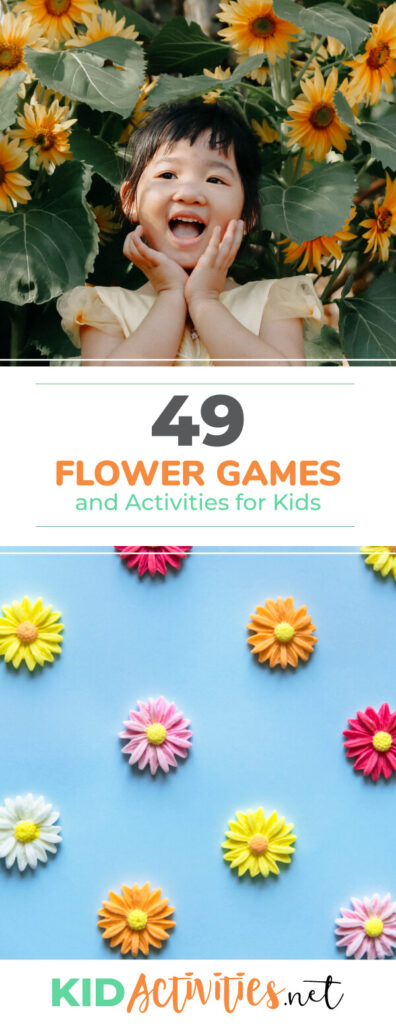 A collection of flower games and activities for kids. These flower activity ideas make for a great flower themed classroom day.