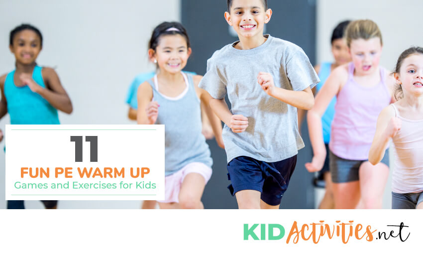 A collection of fun PE warm up games for kids.