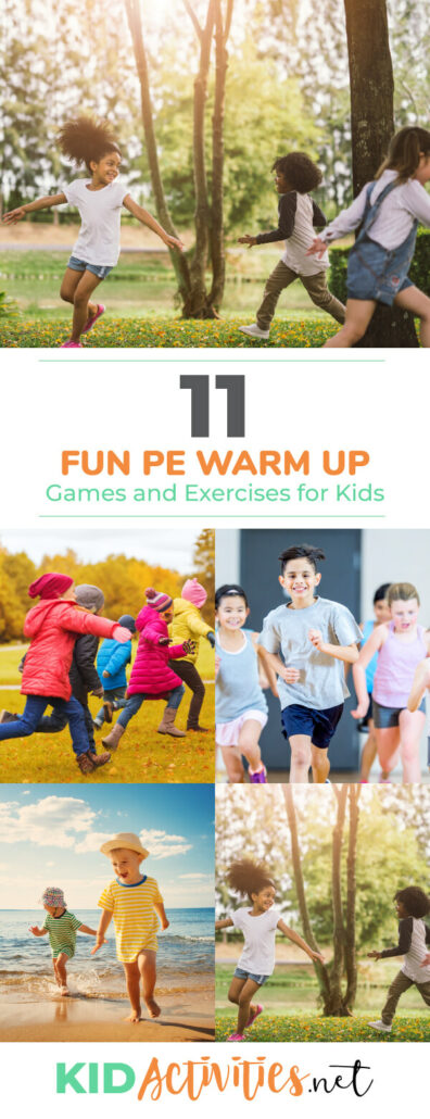 A collection of fun PE warm up games and activities for kids. Great for gym class.