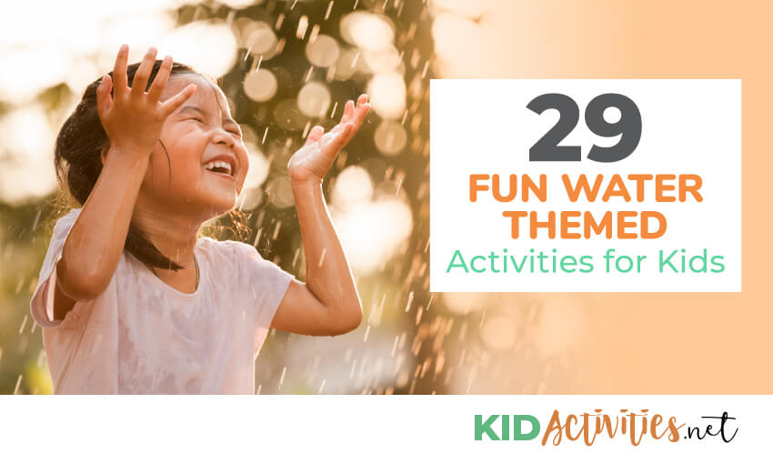 A collection of fun water themed activities for kids. Great for summer ideas.