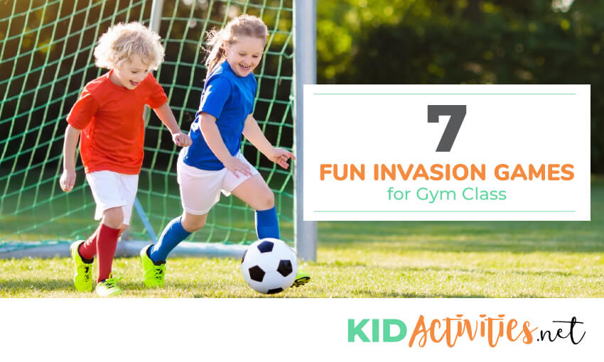 A collection of fun invasion games for gym class.