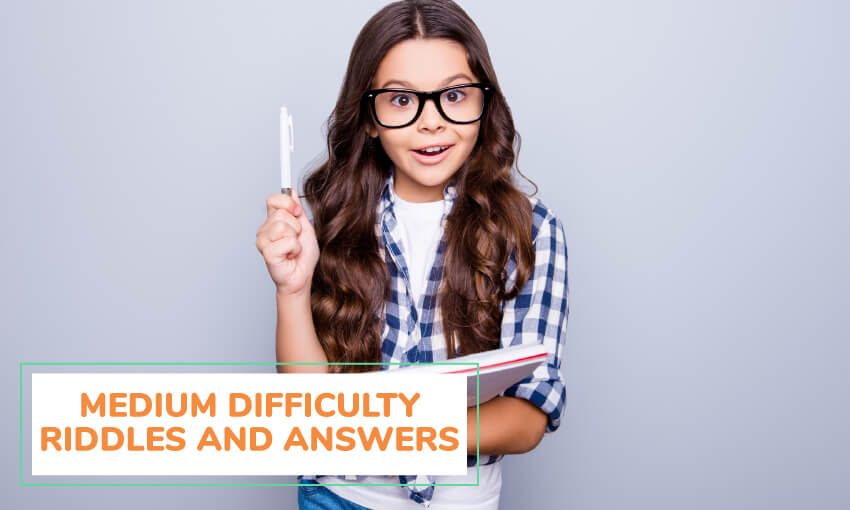 A collection of medium difficulty riddles and answers for kids.