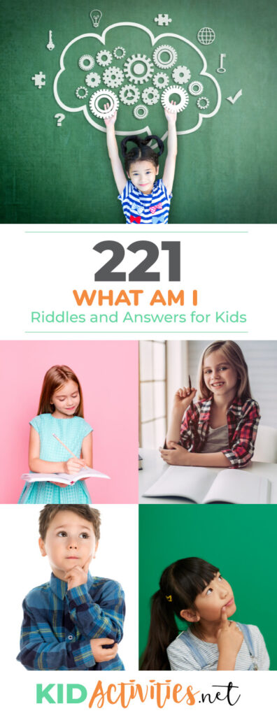 A collection of 221 what am I riddles for kids.