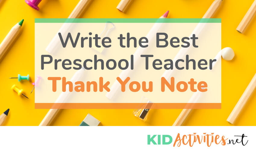 How to write the best preschool thank you note.