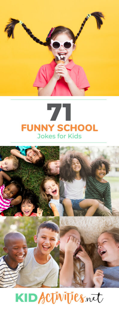 A collection of 71 funny school jokes for kids. Kids can enjoy these clean, school appropriate jokes.