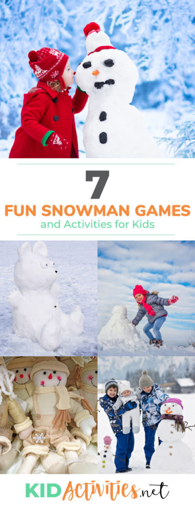 A collection of snowman games and activity ideas for kids. Great for the playground or snow days.