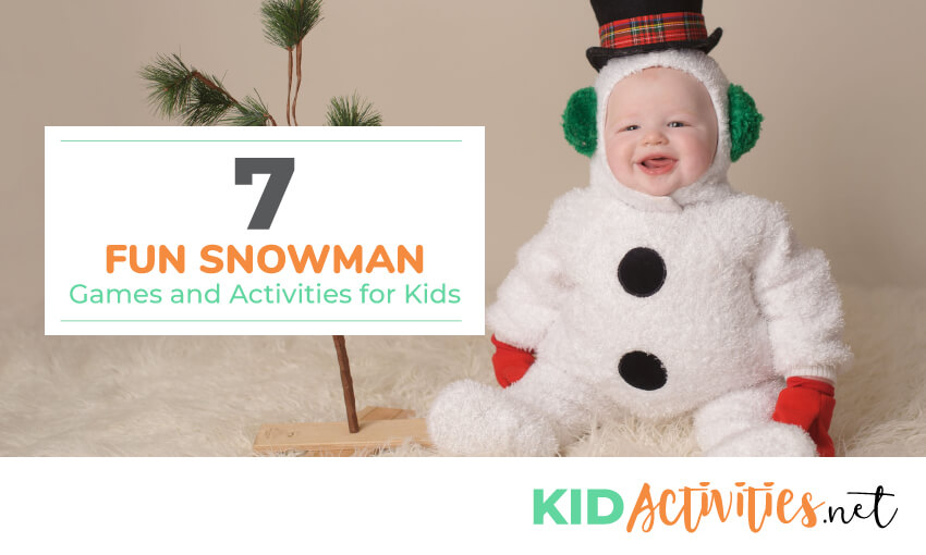 A collection of fun snowman games and activities for kids.