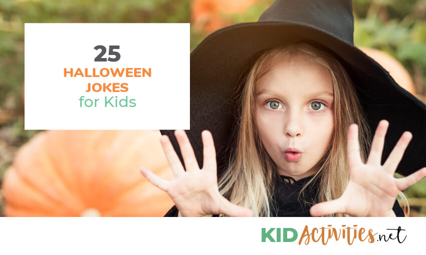 A collection of 25 halloween jokes for kids.
