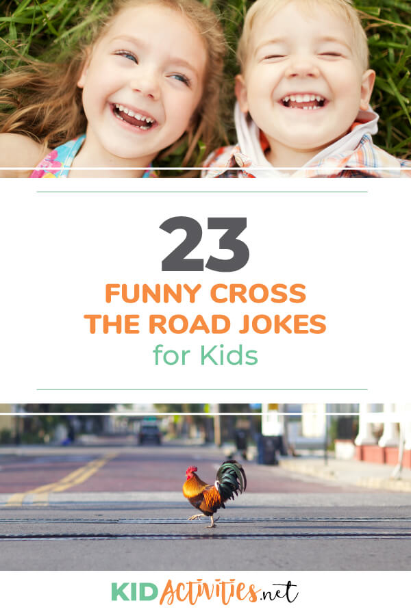 A collection of 23 cross the road jokes for kids.