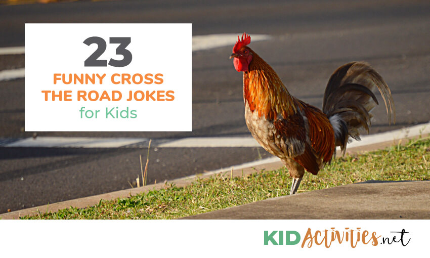 A collection of funny cross the road jokes for kids.