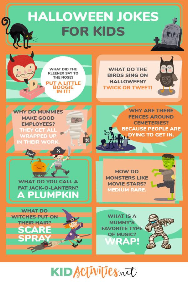 25 Funny Halloween Jokes for Kids , Kid Activities