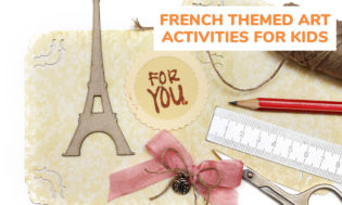 A collection of french themed art activity ideas for kids.