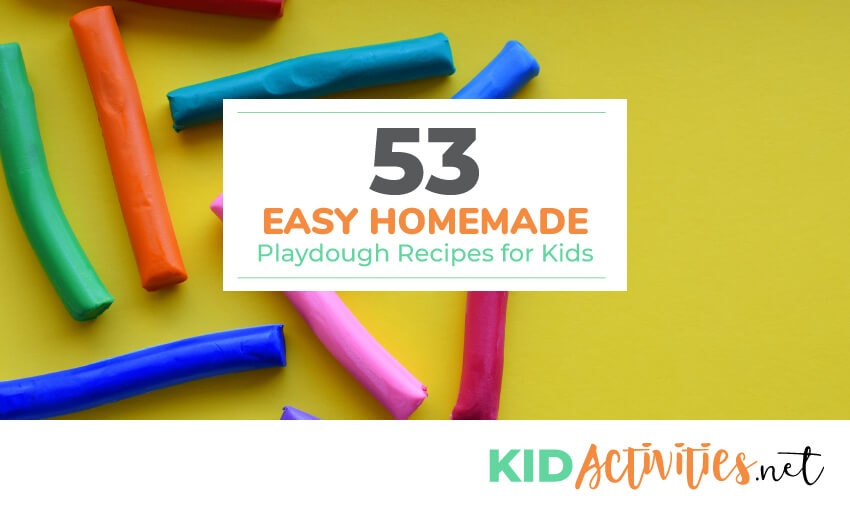 A collection of homemade play dough recipes for kids.
