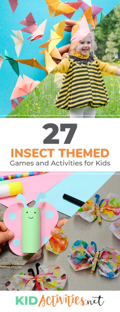 A collection of insect themed games and activities for kids. Enjoy these bug games, insect themed craft ideas, and other fun bug activities.