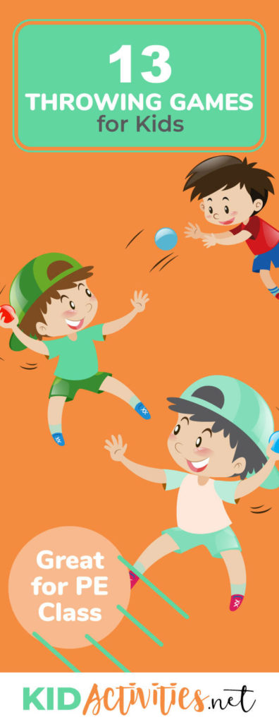A collection of 13 throwing games for kids including underhand throwing games, overhand throwing games, and football throwing games. Learn how to throw underhand as well as learn how to throw overhand.