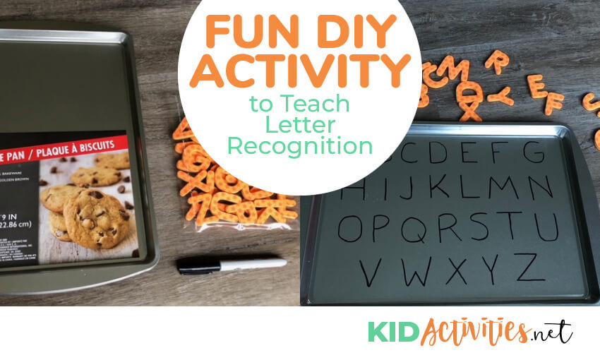 A fun activity to teach letter recognition to toddlers and preschool kids.