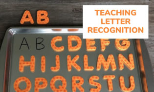 Teaching letter recognition to kids..