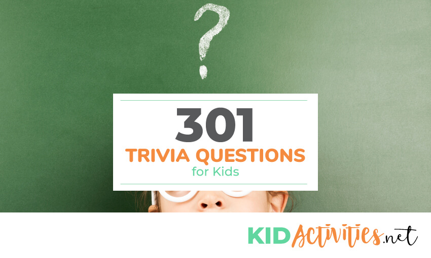 A collection of trivia questions for kids.