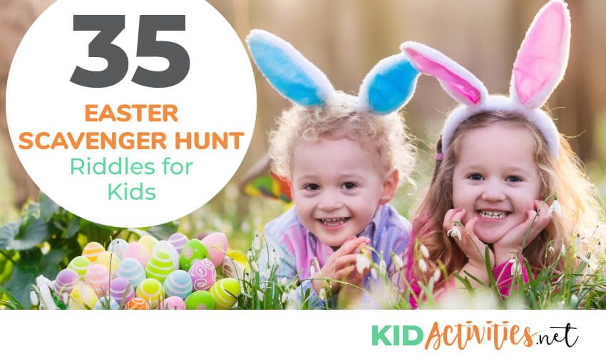 A collection of Easter scavenger hunt riddles for kids.