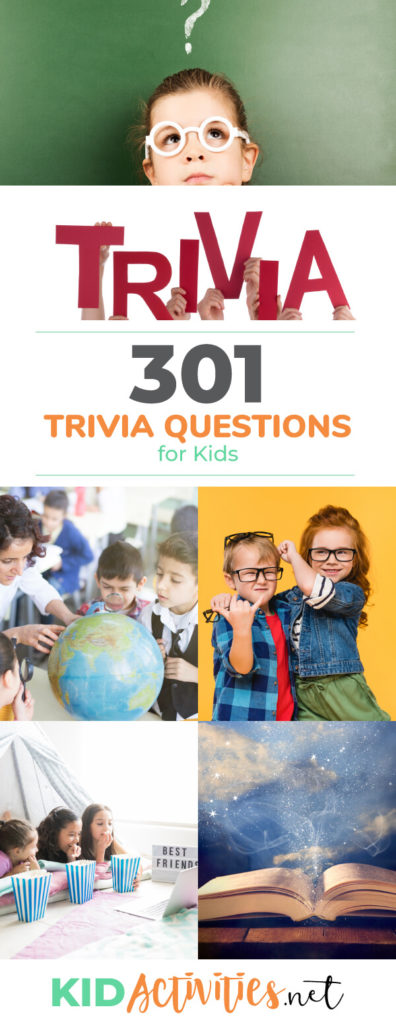 301 Trivia Questions for Kids | Trivia Questions and Answers